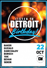 Listen To Detroit Birthday
