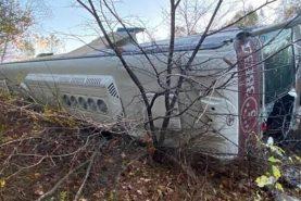 Задержан директор компании-перевозчика, чей автобус с пассажирами перевернулся во время рейса